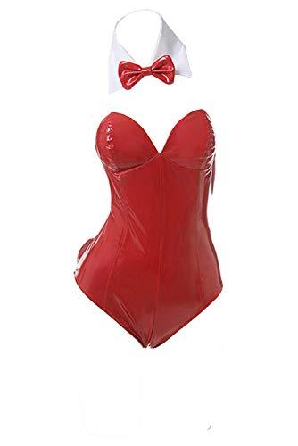 Zhinina Disfraz de Eriri Spencer Sawamura de Saenai Heroine no Sodatekata para Mujer Halloween Traje de Cuero de Conejita Mono Rojo, L
