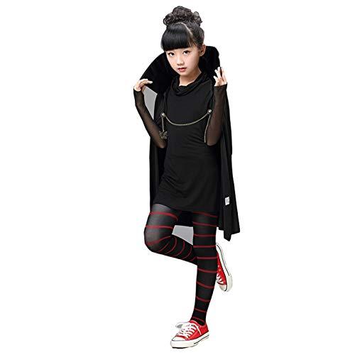 Shihong-G Disfraz de Hotel Transilvania Mavis Disfraz de Cosplay Disfraz de Mujer Halloween Capa con Capucha Negra Vampiro Mavis Traje de Uniforme para Mujeres niñas