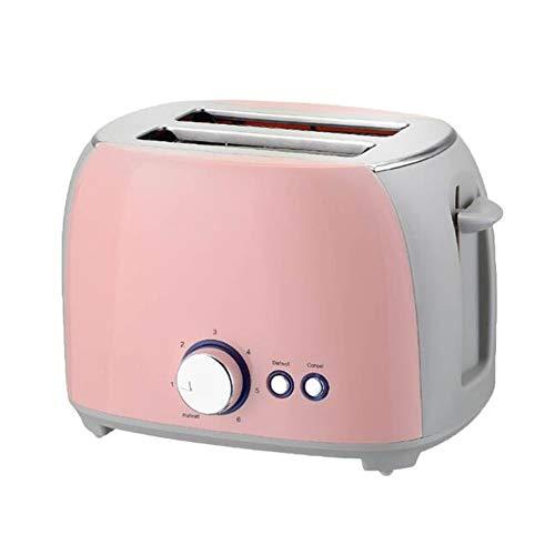 Yiyu Elektrischer Toaster Automatische Brotbackmaschine Toast Sandwich Grill Ofen Maker 2 Scheiben Haushalt Zum Frühstück x (Color : Pink)