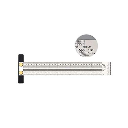 Ultra-Präzisions-Kennzeichnung Lineal, T-Rule-Skala Lineal T-Typ Loch Lineal Edelstahl Ritzen Mark Carpente mit automatischem Bleistift, 300mm