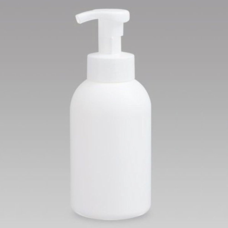 思いつく閉塞頂点泡ボトル 泡ポンプボトル 500mL(PE) ホワイト 詰め替え 詰替 泡ハンドソープ 全身石鹸 ボディソープ 洗顔フォーム