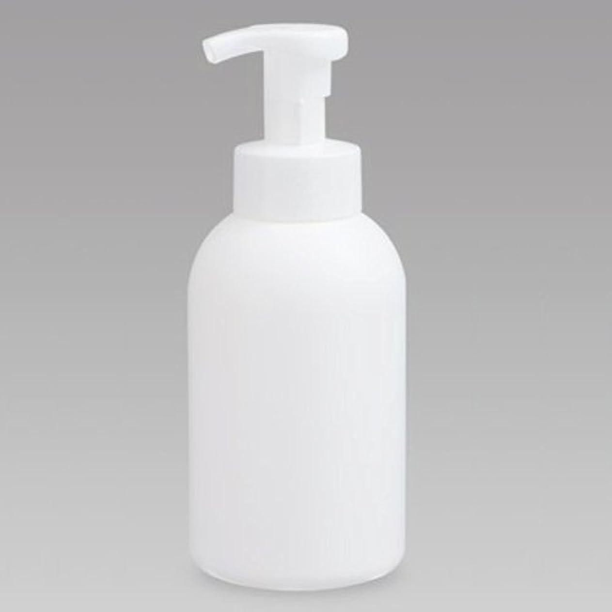 所得十二塗抹泡ボトル 泡ポンプボトル 500mL(PE) ホワイト 詰め替え 詰替 泡ハンドソープ 全身石鹸 ボディソープ 洗顔フォーム