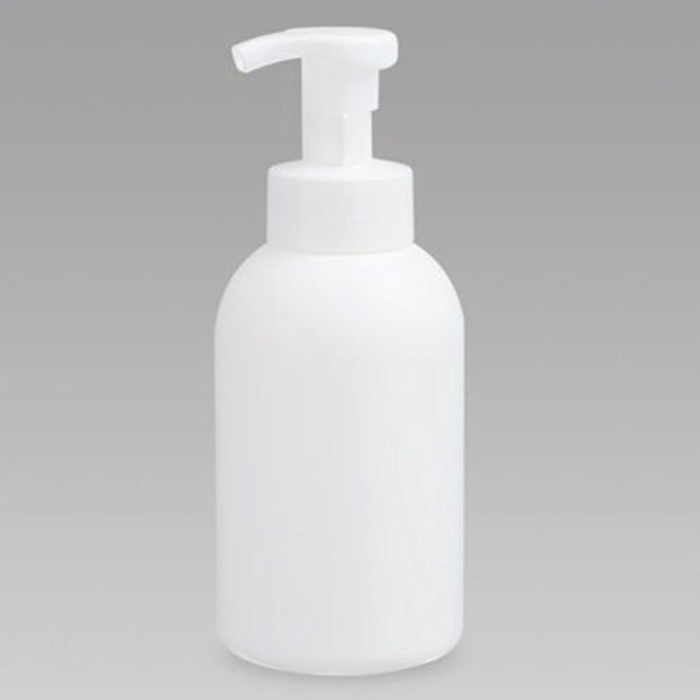 振る舞い有効な振る泡ボトル 泡ポンプボトル 500mL(PE) ホワイト 詰め替え 詰替 泡ハンドソープ 全身石鹸 ボディソープ 洗顔フォーム