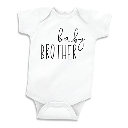 Bump and Beyond Designs Little Brother Shirt for Boys Baby Announcement (White 0-3 Months)