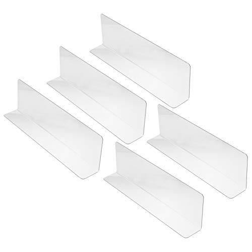 Baluue 10 Unids Soporte de Etiqueta de Plástico Divisor de Estante de Plástico de PVC Divisor de Productos de Supermercado Separador de Mercancías para Tienda Supermercado