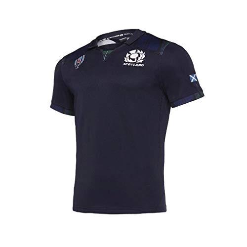 Rugby Trikot Team Schottland 2019 Japan-Weltmeisterschaft T-Shirt Bekleidung Poloshirt (Size : L)