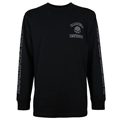 Harley Davidson Langarm-Shirt Skull Black, 2XL
