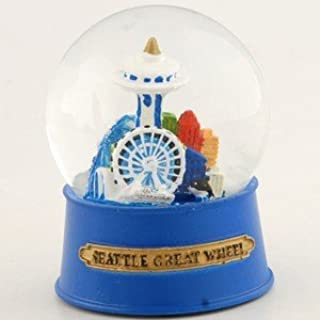 NS Seattle Snow Globe Great Wheel 60mm With Exclusive Copyrighted Seattle Magnet