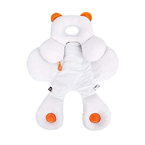 Baby 2 en 1 Reversible Head & Body Support para Cochecito/Asiento de Coche Desmontable Cuello Infantil Soporte con Algodón Orgánico Ajustable Cojín Almohada