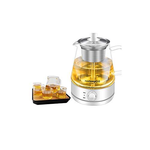 Juego de tetera de cristal, juego de té chino, set de té de regalo, tetera de cristal con infusor, taza y platillo, juego de tetera, taza de vapor, tetera de cristal blanco