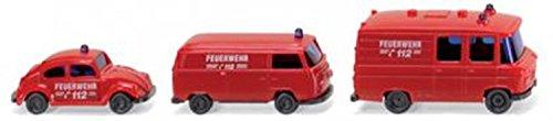 Wiking 093449 - Feuerwehr - Einsatzfahrzeuge (1:160) Spur N