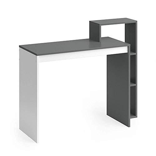 Vicco Schreibtisch Leo 110 x 91 cm Weiß/Eiche Sonoma/Anthrazit - Schreibtisch Arbeitstisch Bürotisch