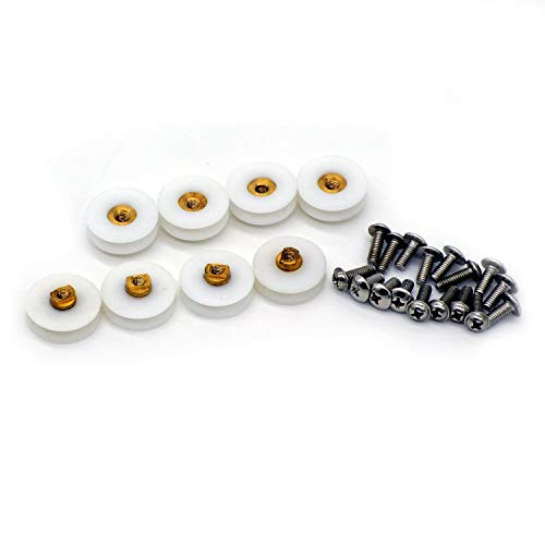 Ersatzrollen für Duschtüren, Laufrad, 22,5 mm, 8 Stück