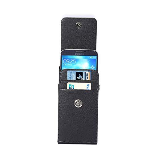 ZAORUN Cubiertas Protectoras de Cellphone Bolso de Cuero de la Vertical Vertical de la Textura del Litchi de la Vertical/del Bolso de la Cintura con Ranuras posteriores de la Tarjeta y de la Correa