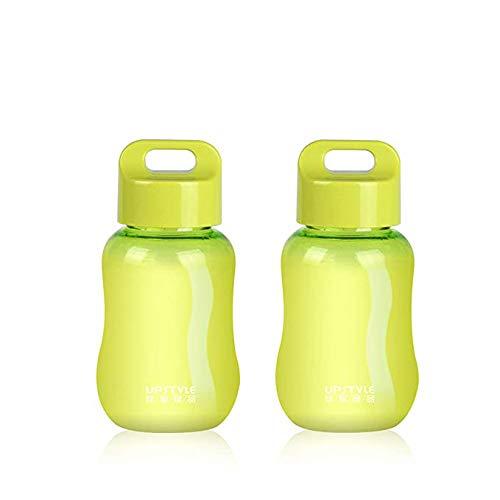 JILIGUALA Upstyle Mini Bottiglia in plastica da caffè, da Viaggio o per Sport, Bottiglia per Acqua, Latte, caffè, tè, succhi di Frutta, 180 ml, plastica