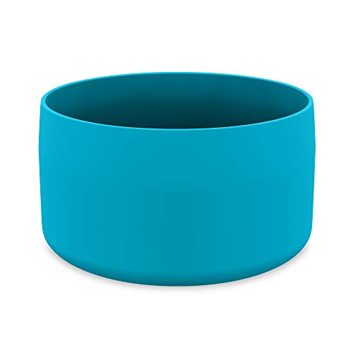 DYLN Protective Silicone Large Bottom Guard for 40 oz DYLN Wide Mouth Alkaline Water Bottles - Anti-Slip & Flexible Boot - Doubles as a Pet Dog Bowl - DYLN Blue