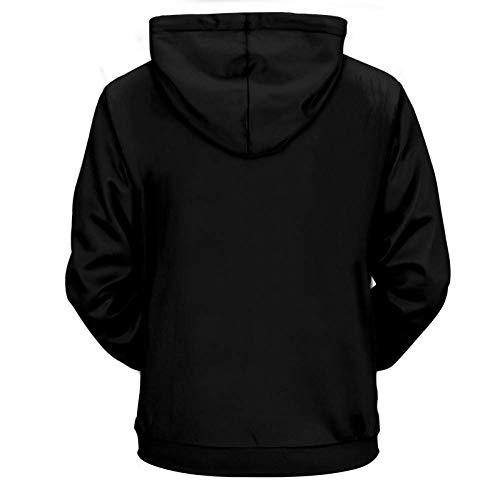 NA lente en herfst sweatshirts aansteker kleurrijke vlam bedrukt zwart met capuchon sweatshirts hoodies mannen unisex cool funny coat 3D sweatshirts M