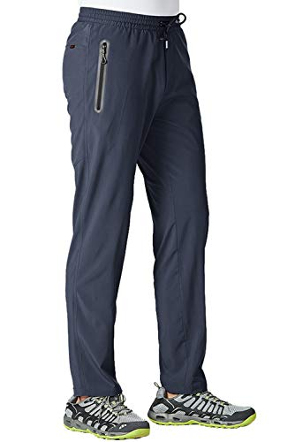 TBMPOY Men s Outdoor Lightweight Hiking Mountain Pants Running Active Jogger Pants(Navy,us L)
