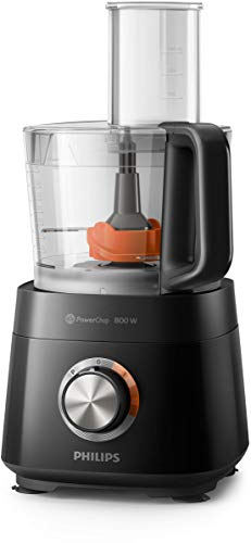 Philips HR7510/00 Küchenmaschine Viva Collection (800 W, 29 Funktionen, 2L Füllkapazität, 2-in-1 Schneidescheibe, Zitruspressenaufsatz) schwarz - 5