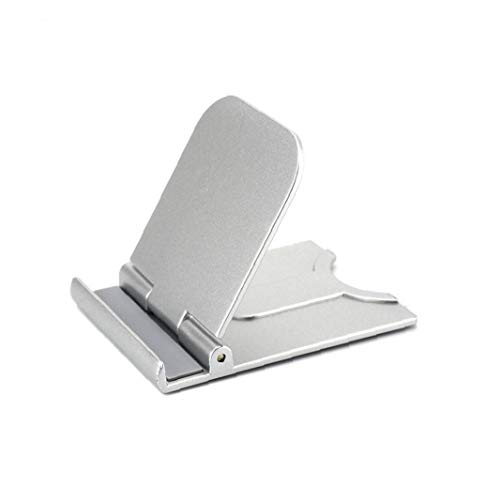 Desk Mobile Phone Holder Adjustable Desktop Dock Cradle with Foldable Stand Compatible with iPhone Android Office Supplies Silver,Mobile Phone Holder