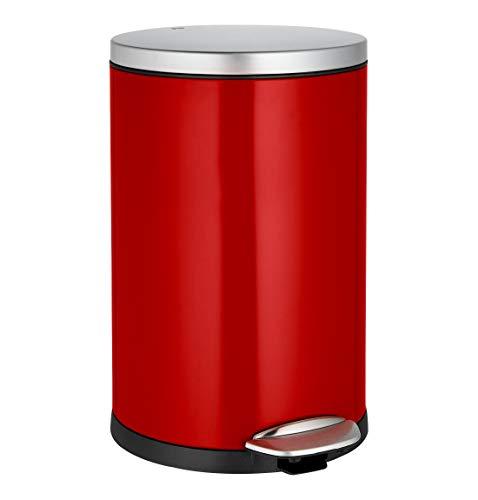 Tretabfallsammler Classic, 30 l, Edelstahl, rot - Müllkübel Mülleimer Mülltonne Pushabfallbehälter …