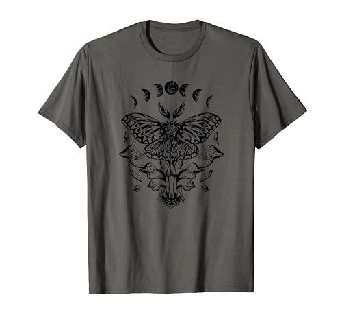 Mondphase Motte Schmetterling Pilze Mystisch T-Shirt