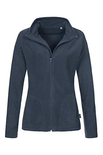 Stedman Damen Warm Atmungsaktiv Micro Fleece Jacke Gr. 42, Marineblau