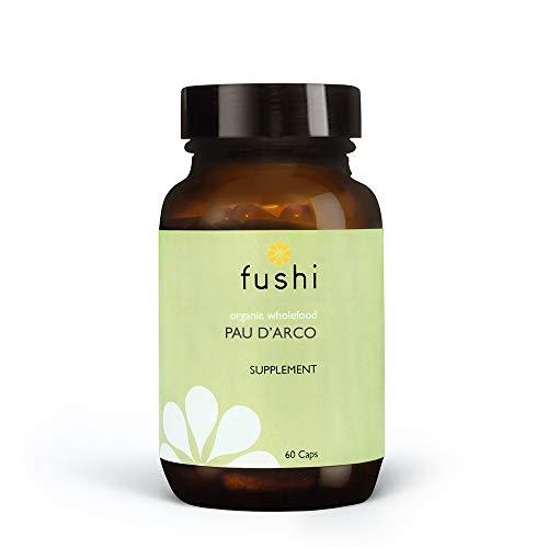 Fushi Organic Pau d'Arco (Handroanthus impetiginosus) Capsules, 60 Caps | Fresh-Ground Whole Food | Rich in Selenium, Iron, Calcium, Sodium & Vitamins | Vegan & Ethical | Made in the UK