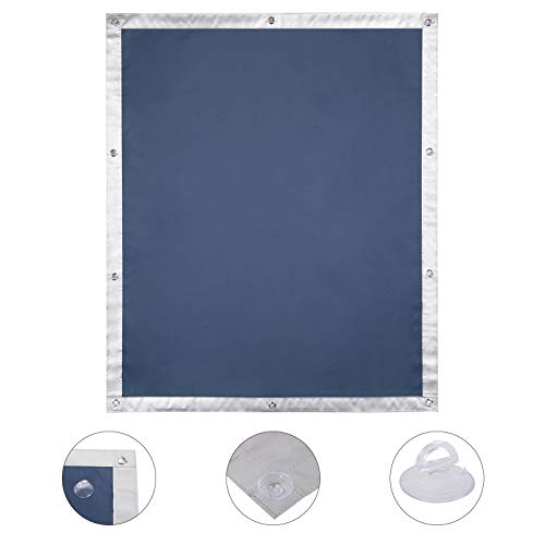 EUGAD Thermo Rollo Dachfenster Sonnenschutz UV-Schutz für Zuhause, Auto, Dachfensterrollos ohne Bohren, Hitzeschutz für Innen, Verdunkelungsrollo Dachfenster ohne bohren mit Saugnäpfen (Blau, 48x73cm)
