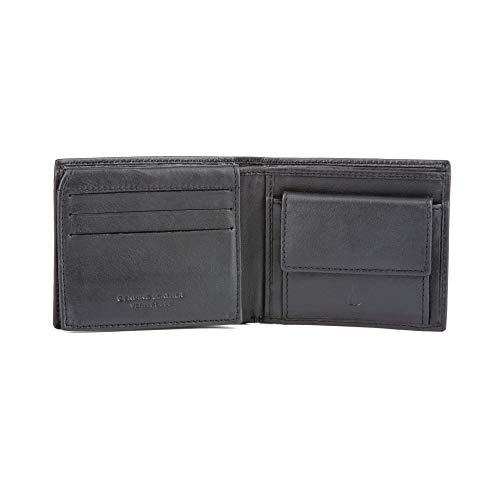 Portafoglio uomo pelle piccolo in morbida Nappa con portamonete e porta carte DV Nero