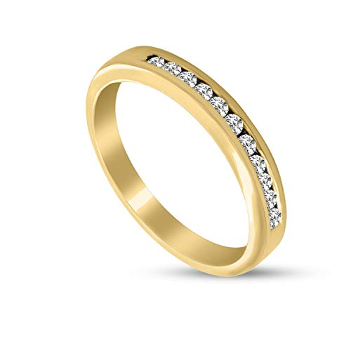 Diamante Naturale 0.23ct Anello Di Diamante Per Le Donne I2-Chiarezza 9k Oro Regali Di Gioielli Con Diamanti Per Le Donne Colore GH 100% Anello Di Diamante Reale
