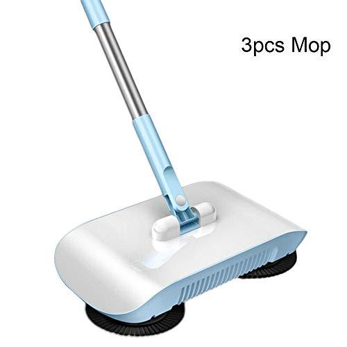 Fintass 2 in 1 hand duwen luie schoonmaken vegen bezem set huis veegmachine met ragen vloer tapijt veegmachine