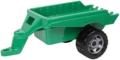 Lena 02124 Giga Trucks grün, Starke Riesen Anhänger für Spielfahrzeuge, Spielfahrzeughänger ca. 48 cm lang, Hänger Großfahrzeuge, lose