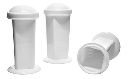 3PK Coplin Jars - Staining - Hold 5-10 Slides Each - Polypropylene - Eisco Labs