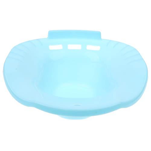 Bidet Portatil Acoplable al Inodoro de Plástico para Mujeres Embarazadas, Pacientes con Hemorroides y Post-episiotomía - Azul claro