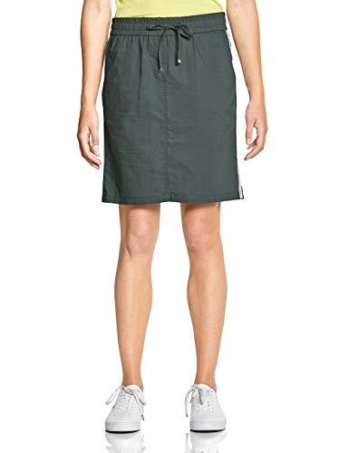 CECIL Damen 360399 Rock per pack Mehrfarbig (slate green 11687), Large (Herstellergröße:32)