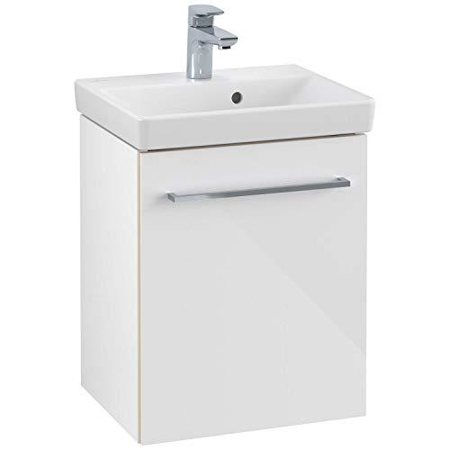 Villeroy & Boch V&B Waschtischunterschrank AVENTO 417x520x346mm Ansch links Crystal White