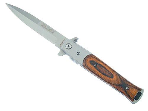 Tac Force–Messer Schnellverschluss unterstützt Milano Stiletto Holz Gray Blade–Pakkawood # tf-428W