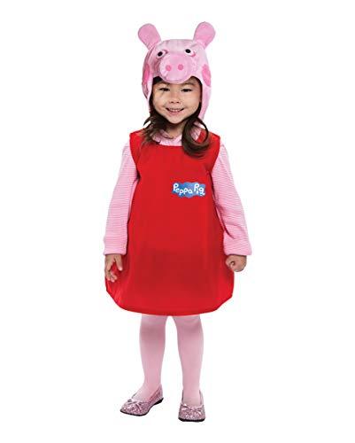 Horror-Shop Kuscheliges Peppa Wutz Kostüm für Kleinkinder