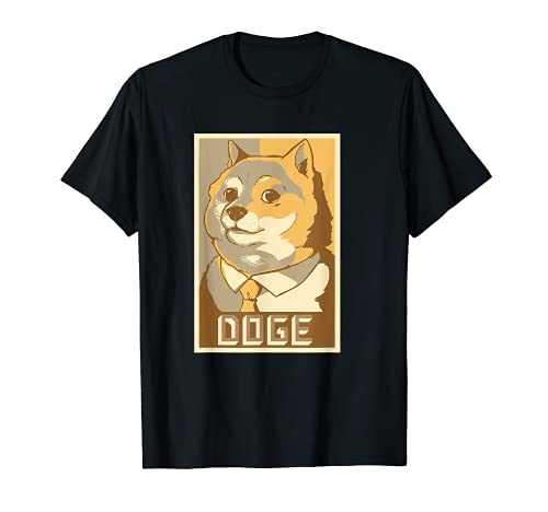 Doge Poster, WOW. Funny Meme Shiba Inu T-Shirt