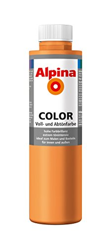Alpina Farben Voll und Abtönfarbe Wandfarbe Alpina Color Farbton Fresh Orange 750 ml