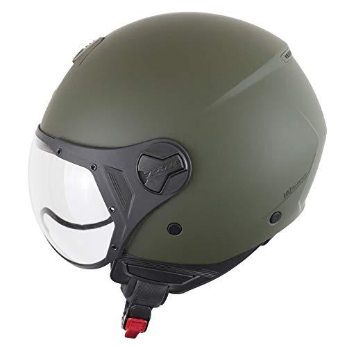 CGM Helm Demi-Jet 107A Florence Mono, Mattgrün, Größe L