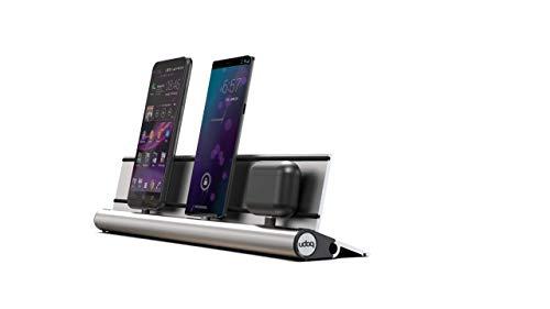 udoq 400 Smart Dockingstation für mehrere Geräte - Schnellladestation für Android-Geräte; Smartphones und Tablets mit USB-c und Micro-USB