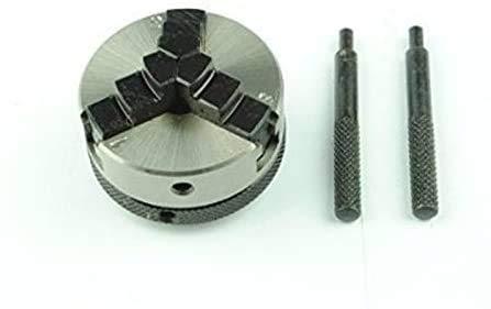Mini tornillo de 50 mm – 3 mordazas autocentrado 12 x 1 mm