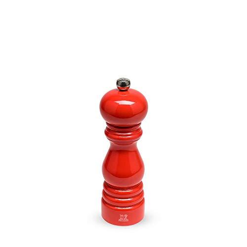Peugeot Paris Manuelle Pfeffermühle, Klassische Mahlgradeinstellung, Höhe: 18 cm, Holz, Rot, 31022
