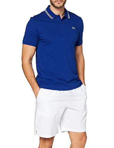 Lacoste YH1482 Camisa de polo, Cosmique/Blanc, XS para Hombre