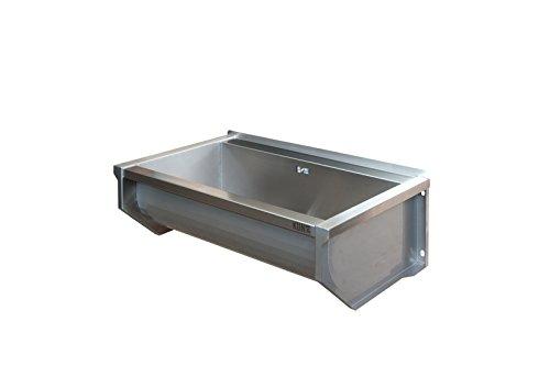 KUNe 70 cm Ausgussbecken | 70 x 25 x 35 cm | Waschtrog aus Edelstahl | Waschbecken