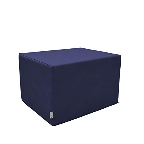 SW Bedding Stufenlagerungswürfel mit Bezug Kunstleder Standard dunkelblau
