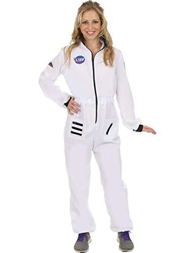 Disfraz de Astronauta Traje Espacial Blanco Uniforme para Mujeres