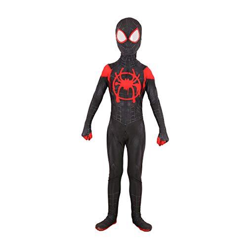 Superhero Costume Kids Bodysuits Spandex Halloween Cosplay Costumes (5T, miles) …